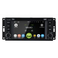 Штатная магнитола CarDroid RD-2201D для Jeep 2005-2008 (Android 8.0)